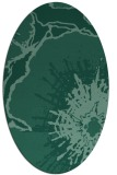 rug #609473 | oval blue-green rug