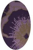 rug #609649   oval purple graphic rug