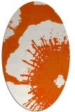 rug #609685 | oval red-orange rug