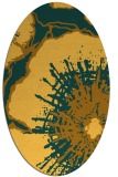 rug #609721 | oval light-orange graphic rug