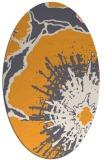 rug #609765   oval light-orange natural rug