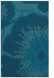 rug #609821 |  blue-green graphic rug