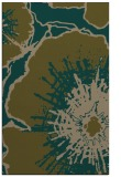 rug #609889 |  mid-brown graphic rug