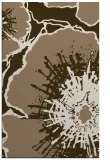 rug #609921 |  mid-brown graphic rug