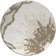 rug #610121 | round white graphic rug