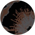 rug #610129 | round black graphic rug