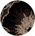 rug #610133 | round black graphic rug