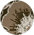 rug #610273 | round mid-brown graphic rug