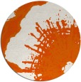 rug #610389 | round red-orange rug