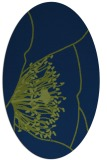 rug #611213 | oval blue graphic rug