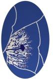 rug #611281 | oval blue-violet graphic rug