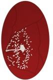rug #611425 | oval red popular rug