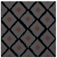 rug #612593   square black retro rug