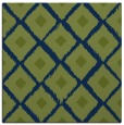 rug #612621 | square green retro rug