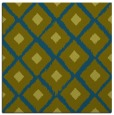 rug #612645 | square green animal rug