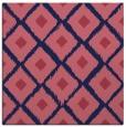 rug #612677 | square blue-violet retro rug