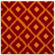 rug #612773 | square red-orange animal rug
