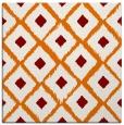 rug #612777 | square orange retro rug