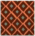 rug #612785 | square red-orange animal rug