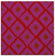 rug #612837 | square red retro rug