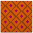 rug #612849 | square red-orange retro rug