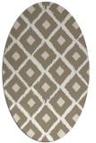 rug #612937 | oval white retro rug