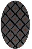 rug #612945 | oval black retro rug