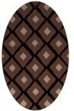 rug #612953   oval brown retro rug
