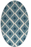 rug #612961 | oval white rug