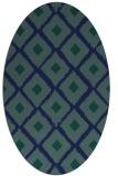 rug #612969 | oval blue animal rug