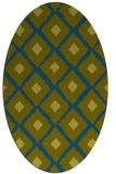 rug #612997 | oval green animal rug