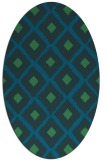 rug #613017 | oval blue animal rug