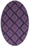 rug #613033 | oval blue-violet popular rug