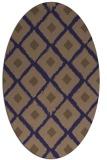 rug #613045 | oval beige animal rug