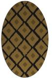 rug #613053 | oval mid-brown retro rug