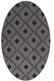 rug #613085 | oval brown retro rug