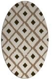 rug #613089   oval mid-brown retro rug