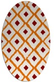rug #613129 | oval orange retro rug