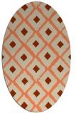 rug #613133 | oval orange animal rug