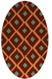 rug #613137 | oval red-orange animal rug