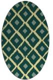 rug #613141 | oval retro rug
