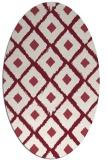 rug #613149 | oval pink animal rug