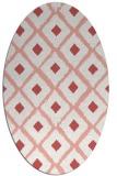 rug #613157 | oval pink animal rug