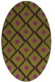 rug #613165 | oval purple animal rug