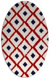 rug #613177 | oval red animal rug