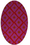 rug #613189 | oval red animal rug