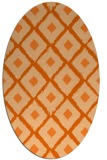 rug #613197 | oval red-orange animal rug