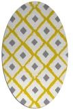 rug #613237 | oval yellow retro rug
