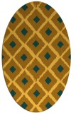 rug #613241 | oval light-orange animal rug
