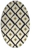 rug #613245 | oval black retro rug